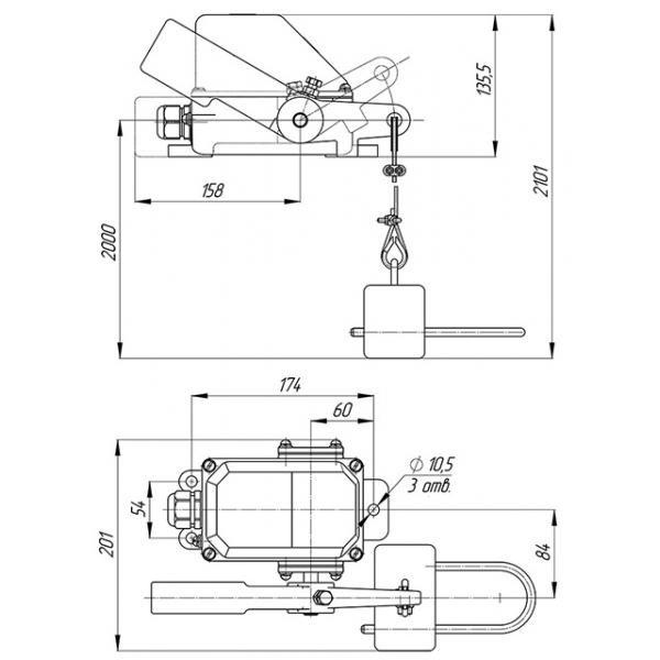 Выключатель путевой КУ-703-СУ У2