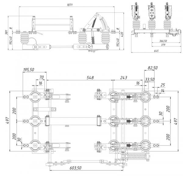 Выключатель нагрузки ВНА-П-10-630-20з У2