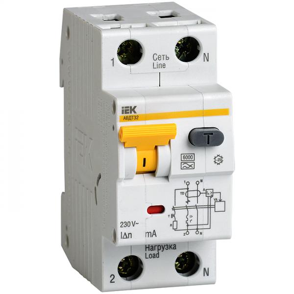 Автоматические выключатели дифференциального тока АВДТ32