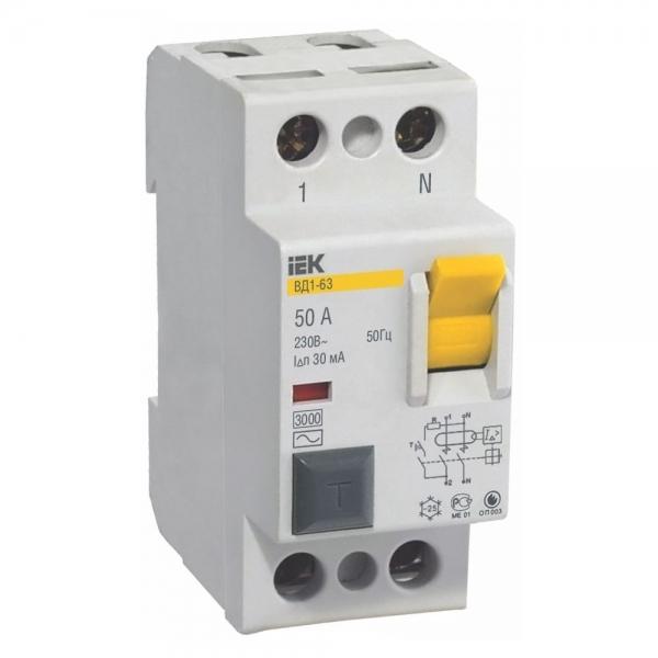 Выключатели дифференциальные ВД1-63 (УЗО тип А)